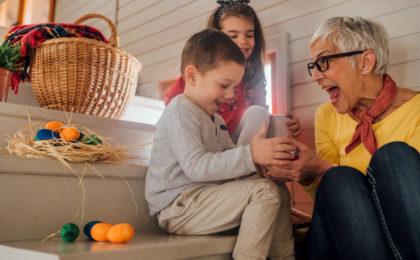 Basteltipps Ostergeschenke für Oma und Opa