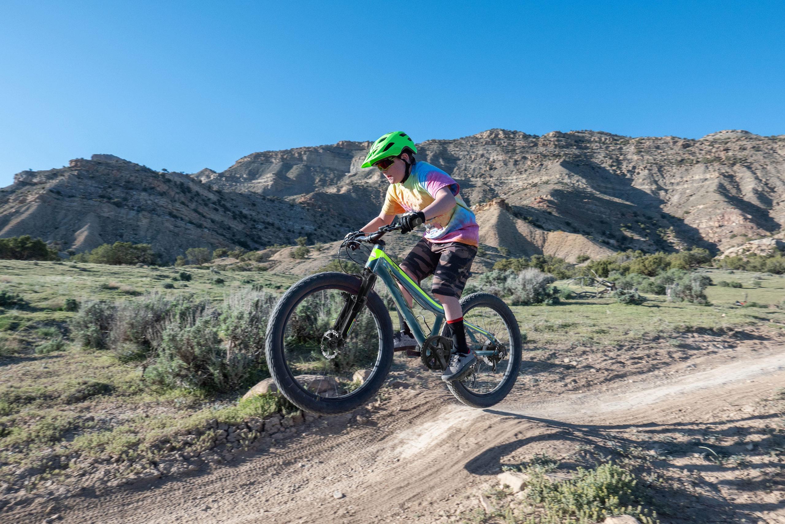Kind mit Mountainbike