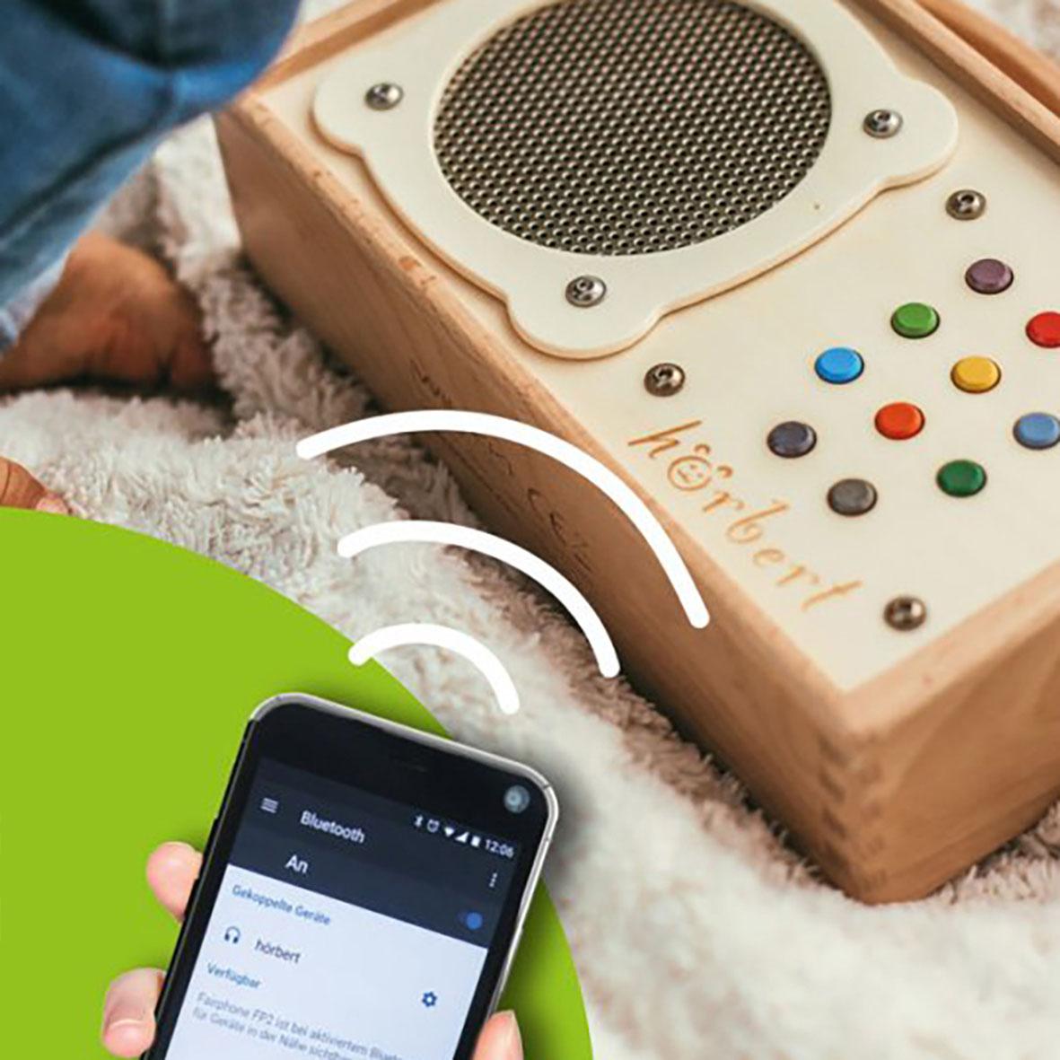MP3-Player aus Holz mit Fernbedienung
