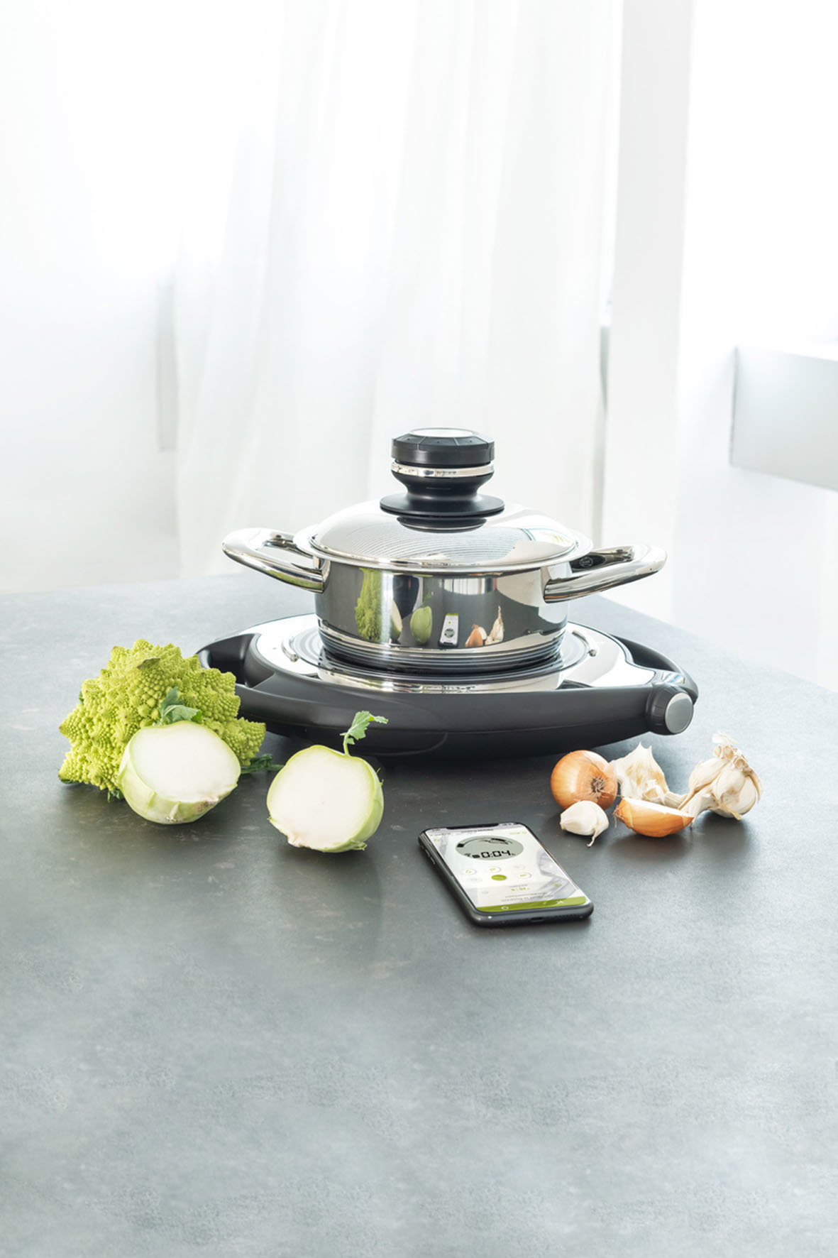 Mobile Kochstelle und smarte Küchenhelfer